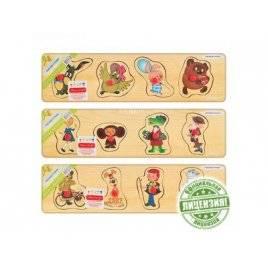 Рамка вкладыш деревянная Герои мультфильмов 5315