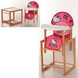 Стульчик для кормления детский деревянный Hello Kitty Виваст