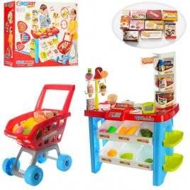 Магазин для детей с продуктами и полочками 668-22