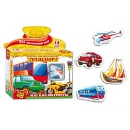 """Мягкие магниты """"Транспорт"""" VT1504-01 Vladi Toys, Украина"""