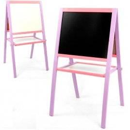 Деревянный мольберт двухсторонний Нежность фиолетово-розовый