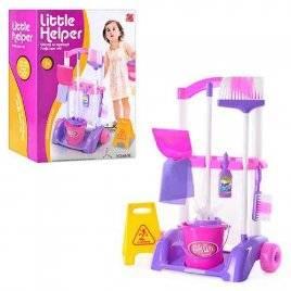 Набор для уборки детский Маленькая хозяюшка с ТЕЛЕЖКОЙ 667 K