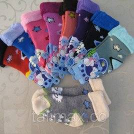 Носки детские махровые с защитой от скольжения 1-2 года Корона