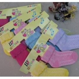 Носки детские хлопковые для грудничков Ажурные 1-3 года Шугуан