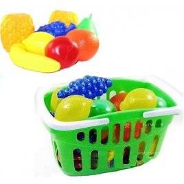 Набор пластиковых фруктов в корзинке ИП.18.002
