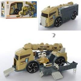 УЦЕНКА!! Машина-гараж трейлер с ракетой Военная трейлер P910-A БРАК!!