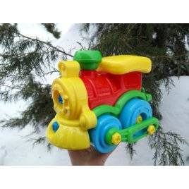 Конструктор Собирайка паровоз с инструментами 30.003 Toys Plast, Украина