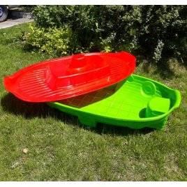 Уценка!Песочница с крышкой - бассейн Корабль 03355 зелено-красная