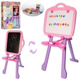 Мольберт для девочки Литл Пони двухсторонний розовый PN-02