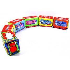 Мягкий конструктор-кубики Веселый паровозик на липучках 122 ТМ Розумна іграшка