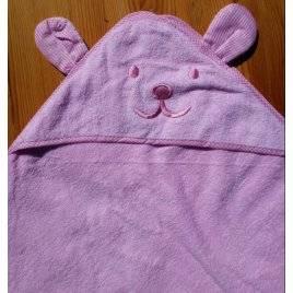 Полотенце для младенцев розовое с ушками 2018
