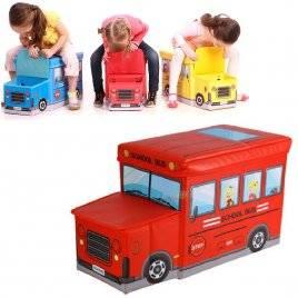"""Пуф детский для игрушек Автобус """"УкрДом"""", Украина"""