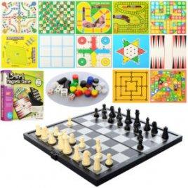 Настольная игра Шашки, шахматы и нарды магнитные 13 в 1 QX6613A