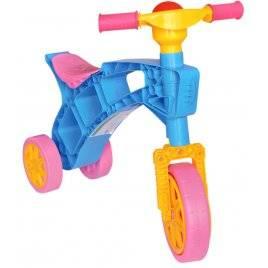 Ролоцикл № 3 (велосипед без педалей) трехколесный Технок, Украина голубо-розовый