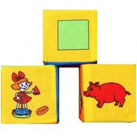 Кубики мягкие 3 штуки 125 Умная игрушка