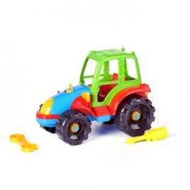 Конструктор собирайка большой разборной Трактор 30.006 Toys Plast, Украина
