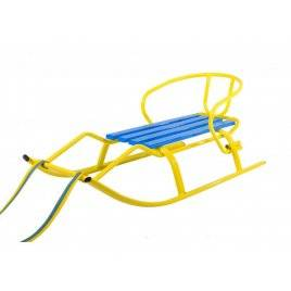 Санки желтые с голубым Спорт F1. Патриот