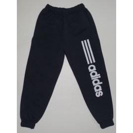 Штаны для девочек на манжетах черные Adidas 5-9 лет Турция