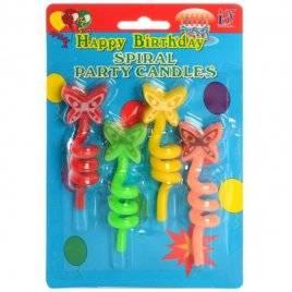 Свечки для праздника именинные бабочки или смайлики 061/071
