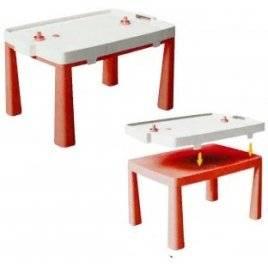 Стол пластиковый большой для игры в аэрохоккей 04580/5 Doloni красный