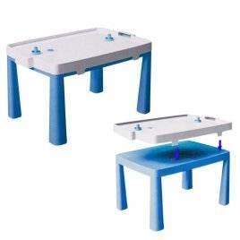 Стол пластиковый  для мальчика с насадкой для аэрохоккея 04580/1 Doloni синий