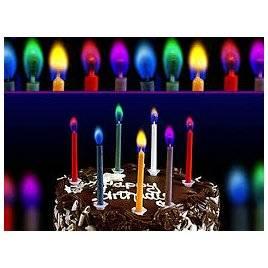 Свечи для торта Цветное пламя 5162