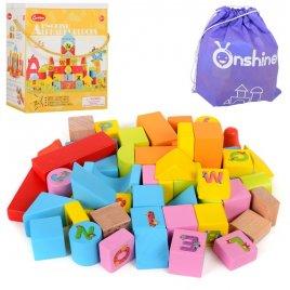 Деревянная игрушка Городок 50 деталей MD TNWX-6041-1