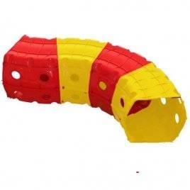 Тоннель (туннель) игровой пластиковый 4 секции красно-желтый 01471/2 Долони Тойс