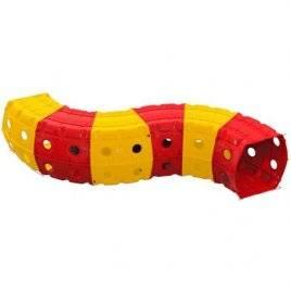 Тоннель (туннель) игровой пластиковый 6 секций красно-желтый 01472/2 Долони Тойс