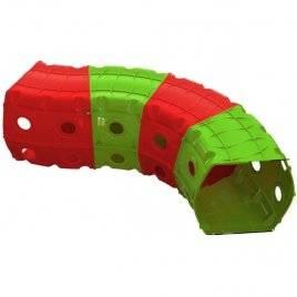 Тоннель (туннель) игровой пластиковый 4 секции красно-зеленый 01471/3 Долони Тойс