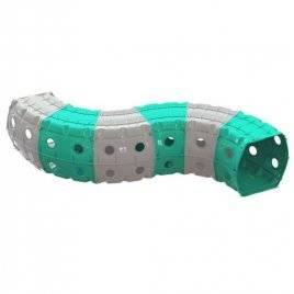 Тоннель игровой пластиковый 6 секций серо-голубой 01472/1 Долони Тойс