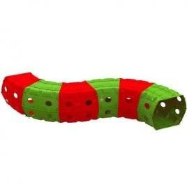 Тоннель (туннель) игровой пластиковый 6 секций зелено-красный  01472/3 Долони Тойс