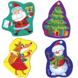 Беби пазлы  Санта Клаус или Дед Мороз VT1106-67