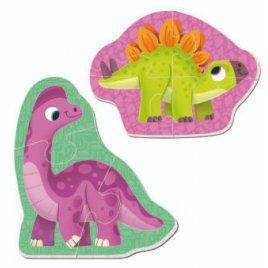 Беби пазлы магитные Динозаврики VT3208-21