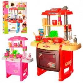 Кухня детская  со звуками и светом розовая или красная WD-P15-R15