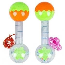 Погремушка Гантеля с шариками YL020 ОПТОМ 10 штук