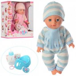 Пупс Baby Born средний в теплой одежде с шарфиком YL1712A-L-S в коробке