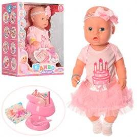Пупс Baby Born Именинница с тортиком на платье YL1900E аналог