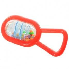 Погремушка с шариками Колотушка красная Z97-Z114