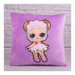 Подушка детская сувенирная в пайетках Lol 00291-8 Копиця