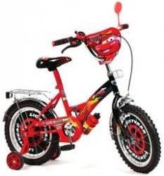 """Детский двухколесный велосипед 16"""" Mustang """"Тачки"""""""