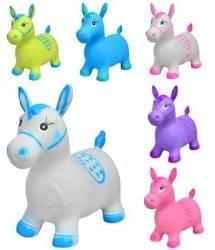 """Прыгун   лошадка резиновая """"Расписная"""" для мальчиков 0373 6 цветов"""