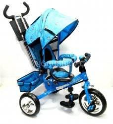 Велосипед Profi Trike M 0448-1 голубой c тормозами