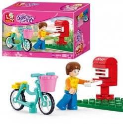 Конструктор для девочек доставка почты 29 деталей M38-B0516 SLUBAN