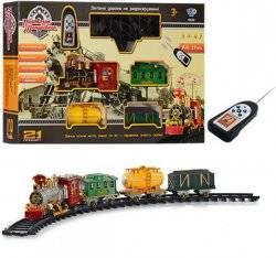 Железная дорога детская музыкальная с пультом «Радость путешествий»  550 см 0622