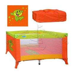 """Манеж-кровать M 0820 детский оранжевый на ножках """"Bambi"""""""