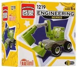 Конструктор мини Экскаватор стройтехника 1219 BRICK