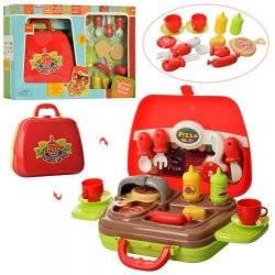 Кухня с плитой, барбекю и продуктами  в чемодане 16804-A