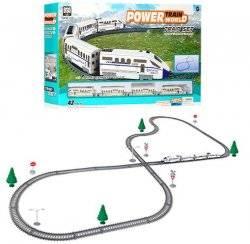 Железная дорога локомотив+ дорожные знаки 43 детали 2183