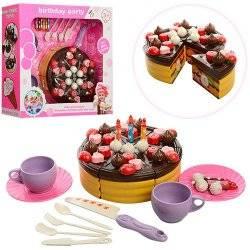 Продукты на липучке Торт + посудка  2228-1